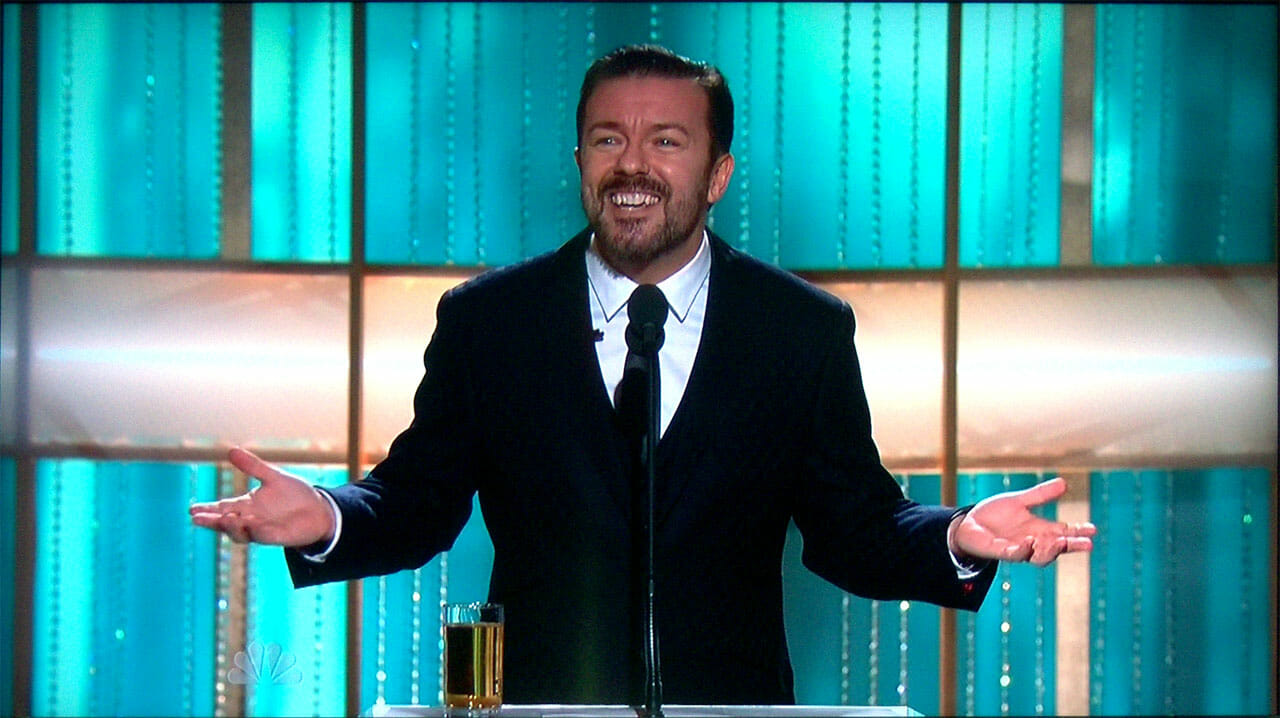 Ricky Gervais Behaves Himself At Golden Globes