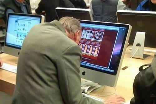 Elderly Man Browsing Internet